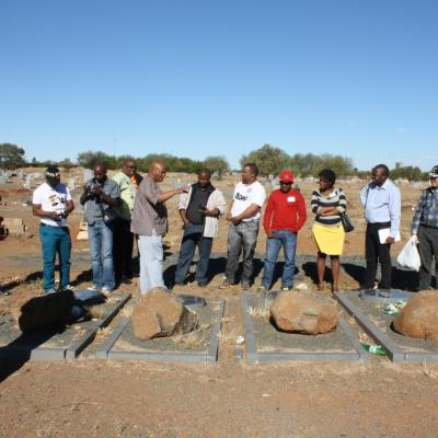 Sama National Conference 2013 Delegates On A Township Tour Visited The Sol Plaatjie Grave